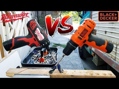 Hobbysta Vs Industrial - Duelo de parafusadeiras 12v Milwaukee 059 vs B&D HP12