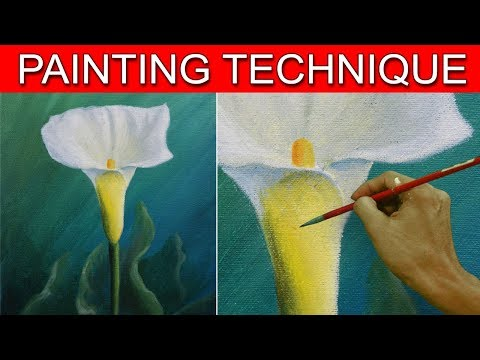 How to Paint a Calla Lily Flower in Acrylic by JM Lisondra