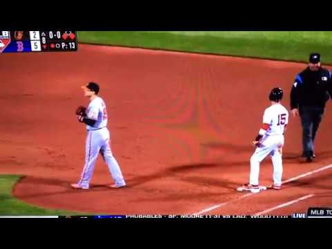 2017 Orioles Red Sox Triple Play