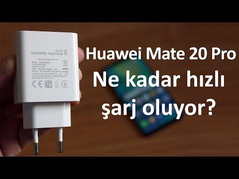 Huawei Mate 20 Pro hızlı şarj özelliğini kullandık    Işık hızıyla şarj oluyor!