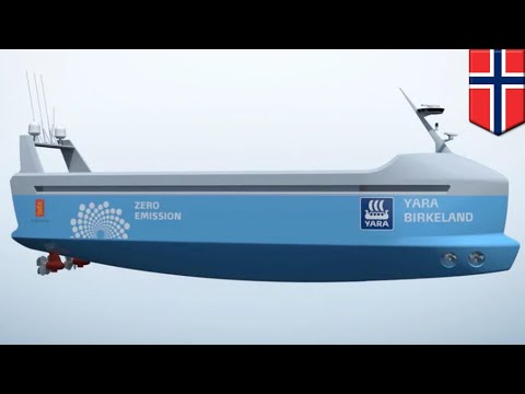 Autonomous container ship: All-electric, autonomous containe