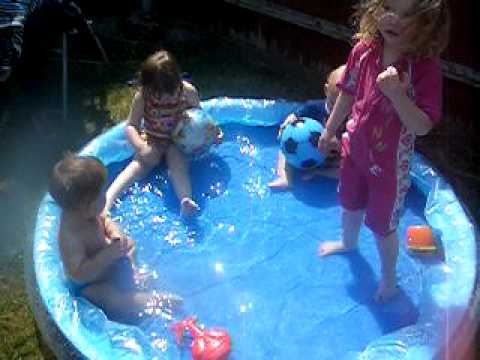 Paddling Pool Fun With Friends Youtube