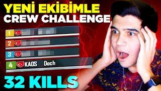 YENİ TAKIMIMLA CREW CHALLENGE! | PUBG Mobile