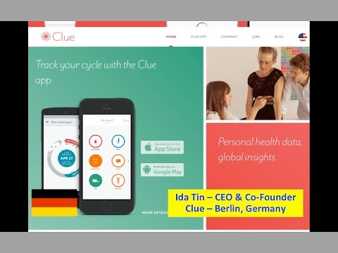 Berlin :: Ida Tin - Clue - Womens Health Startups - Feb 8 2016