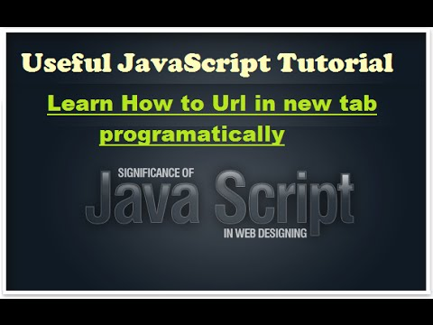 Javascript training - how to open url in new tab programatically - english  pronunciation course