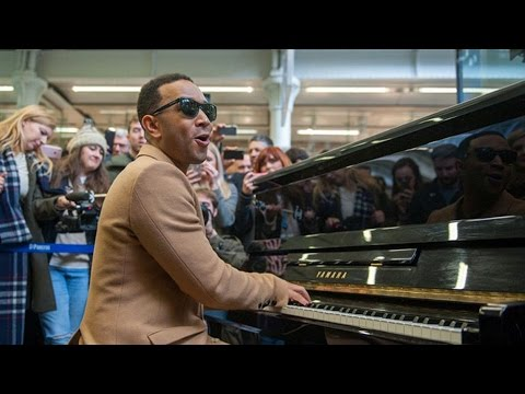 John Legend plays Surefire on piano at St Pancras International  Magic Radio