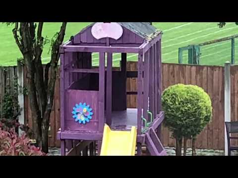 How to build shed/Playhouse with slide/treehouse/wendy House/garden House  /decking/timber