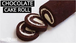 THE BEST Chocolate Cake Roll! Chocolate Swiss Roll Recipe
