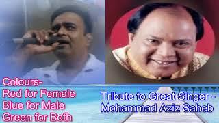 Mere samne sada tu din Raat rahe karaoke only for male singers by Rajesh Gupta