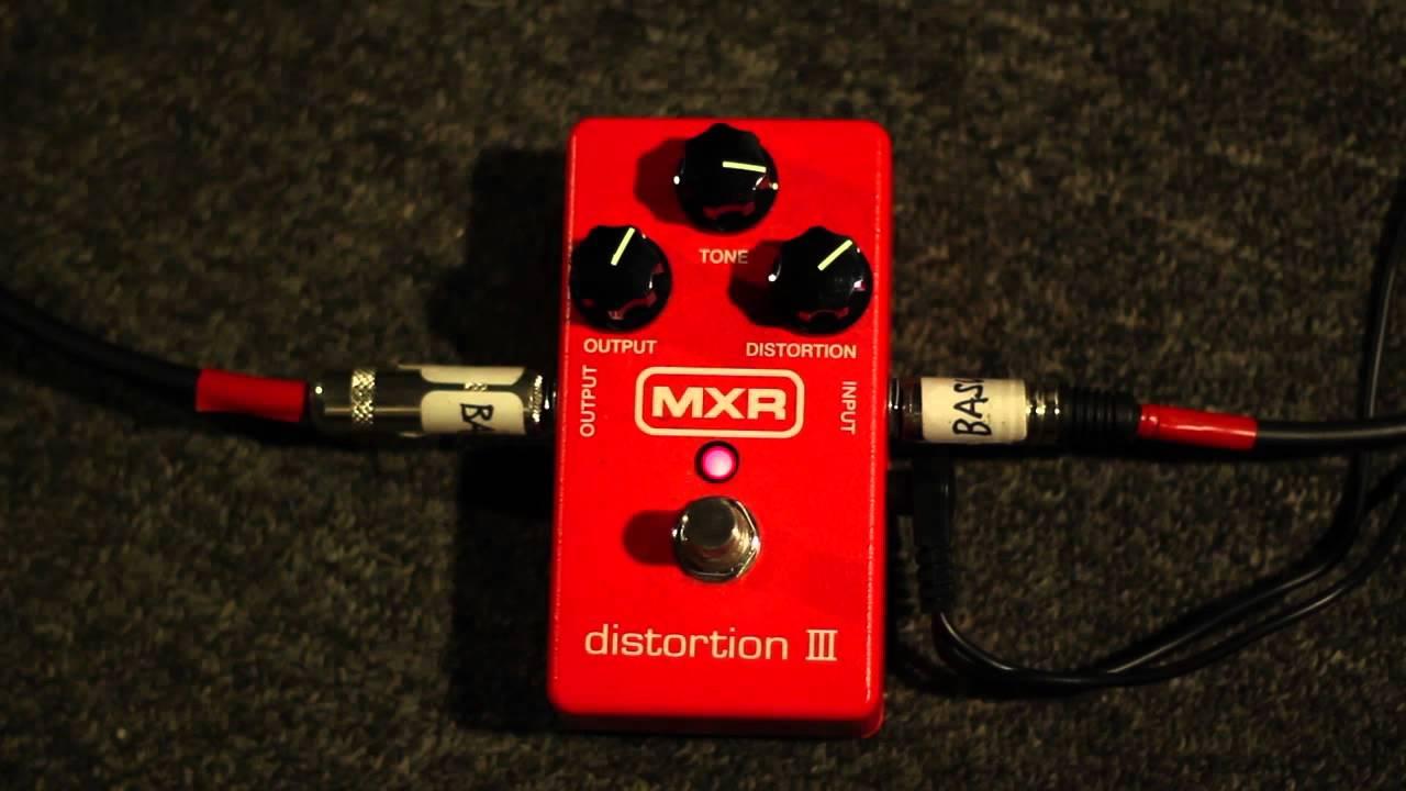 mxr distortion iii demo youtube