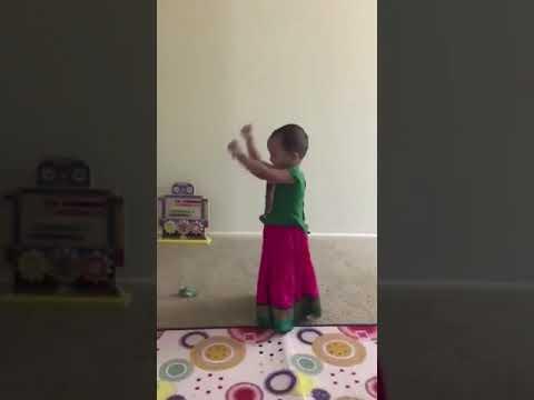 Baby dance for Pacha Pachani Palle Bathukamma
