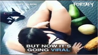 SHE CRUSHES WATERMELONS WITH HER THIGHS