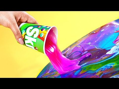 MESSY YET BEAUTIFUL PAINTING TECHNIQUE FOR KIDS