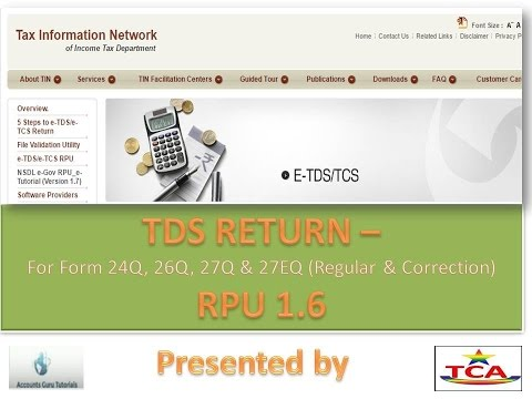 RPU  TDS Return filing process