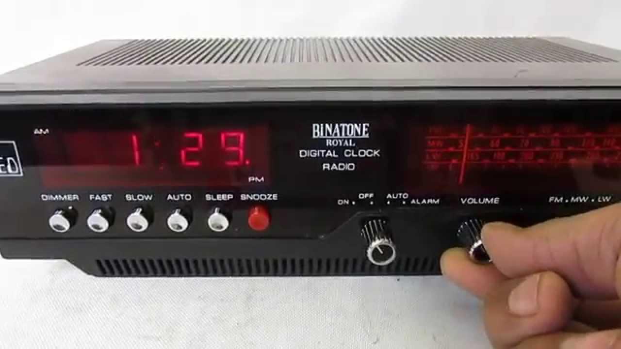 vintage binatone led digital royal clock radio youtube. Black Bedroom Furniture Sets. Home Design Ideas