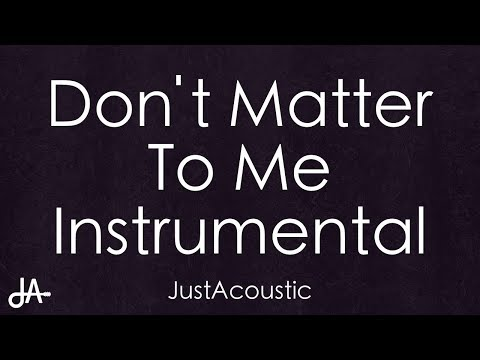 Dont Matter To Me  Drake ft Michael Jackson Acoustic Instrumental