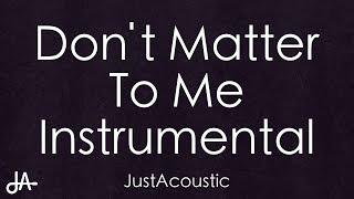 Baixar Don't Matter To Me - Drake ft. Michael Jackson (Acoustic Instrumental)