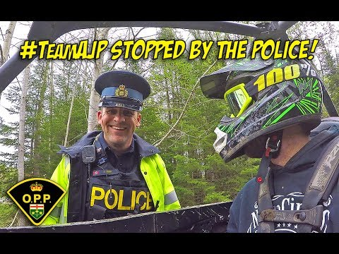 Scenic Northern Ontario Trail Ride + Getting Stopped by the Police - #TeamAJP Trail Vlog 002