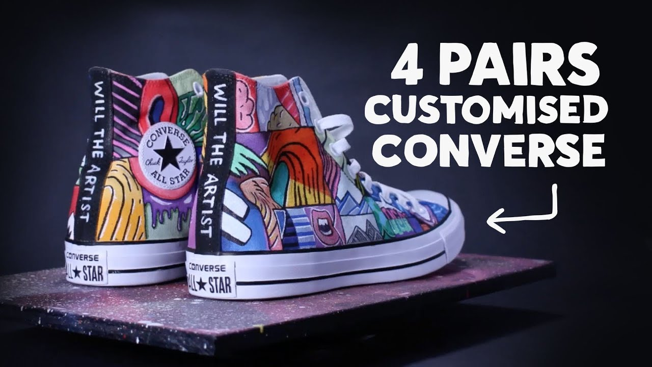 63d6001b8a0f All Star Converse Customisation ⚡  customisation  converse - YouTube