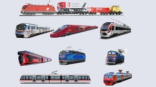 Железнодорожный Транспорт и Поезда для детей. Railway Vehicles - Trains and Subway. Learning Video