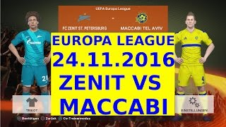Video Gol Pertandingan Zenit Petersburg vs Maccabi Tel Aviv