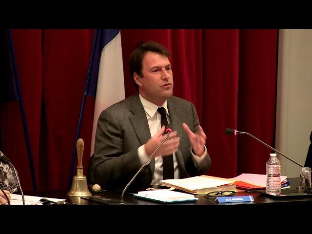 Vidéo Conseil Municipal du 18 janvier 2018