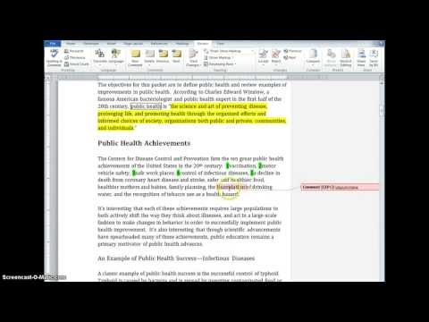 How to Annotate in Word 2010