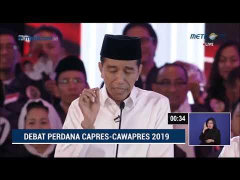 Debat Pilpres 2019 Part 7 - Jokowi Tanya ke Prabowo Soal Eks Napi Koruptor Jadi Caleg Gerindra