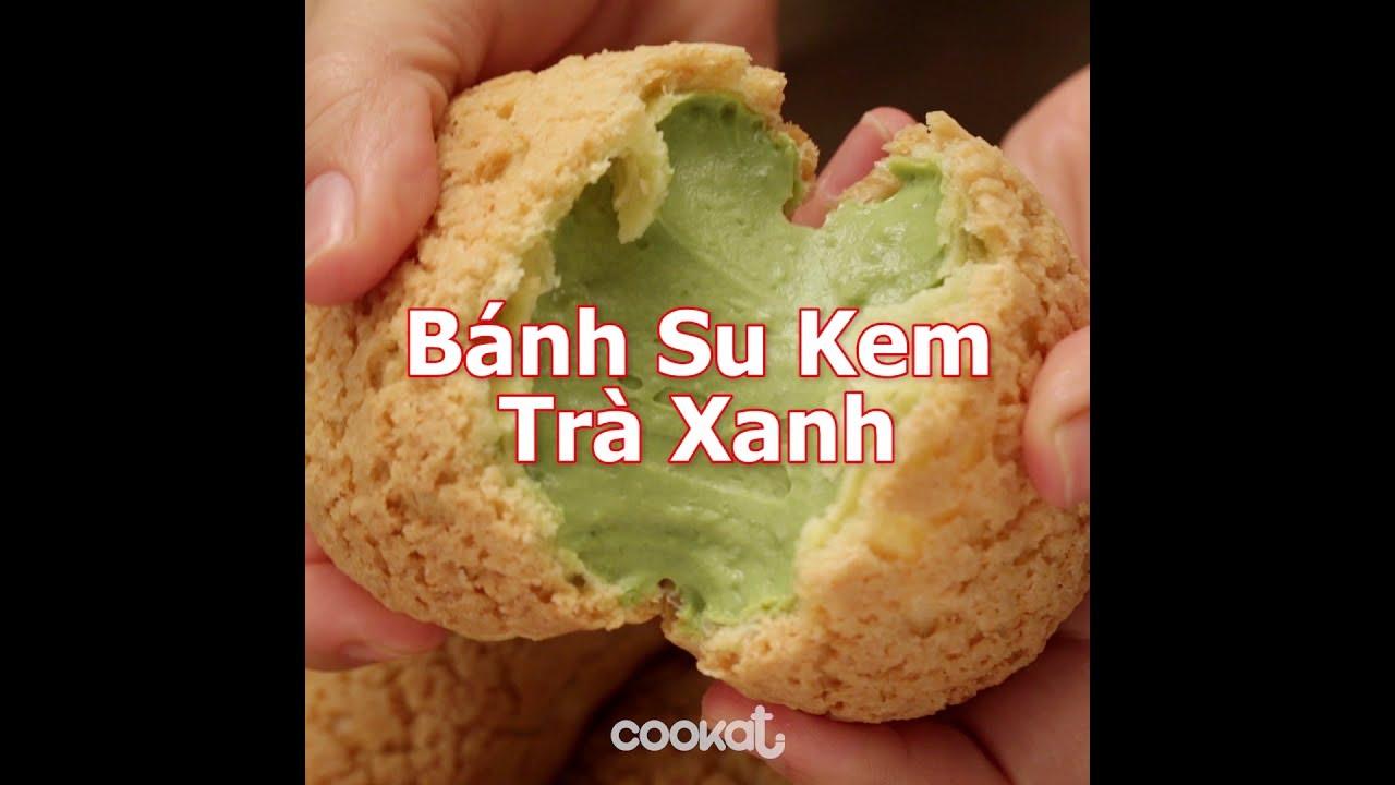 [Cookat Việt Nam] Bánh Su Kem Trà Xanh