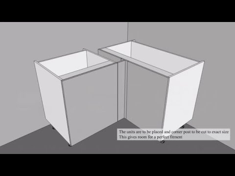 How to fit a straight corner base - Kitchen Warehouse