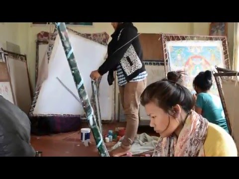 Thangka painters in Kathmandu (February 2016)