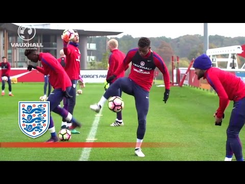 Ball Control, Heading & Shooting Session - England U21   Inside Training