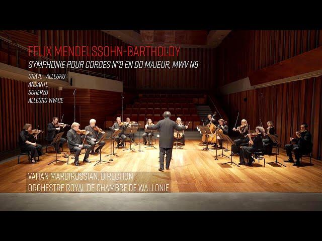 Mendelssohn, Symphonie pour cordes n°9  - Vahan Mardirossian, ORCW - 4k