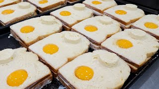 계란 노른자 넣은 계란 토스트, 에그 샌드위치, Toa…