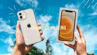 white iphone 12 unboxing asmr ✨