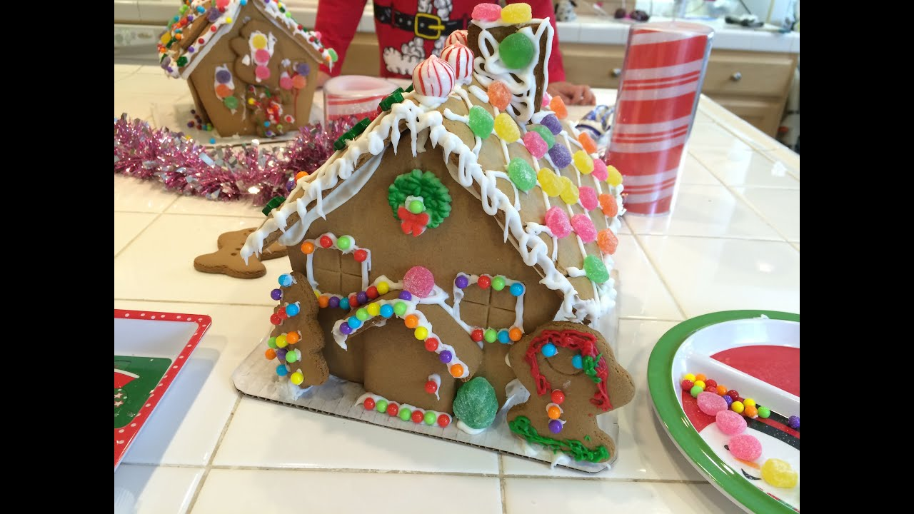 Design A House For Kids gingerbread house making with the kids! - youtube