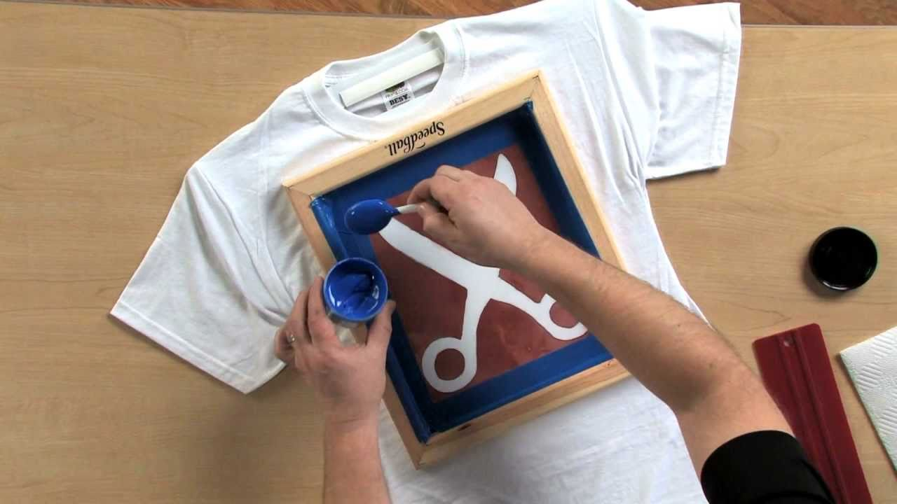 How to screen print using the drawing fluid technique for How to shirt printing