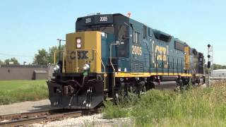 CSX GP38-3 Rebuild Locomotive The Debut on Toledo Sub at Lima Ohio