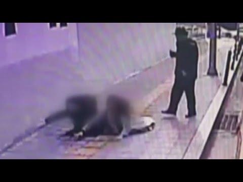 Two people fall 10 feet into sinkhole
