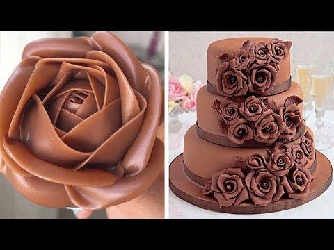 Most Satisfying Chocolate Cake Decorating Ideas | Yummy Chocolate Cake Recipe | Tasty Cake