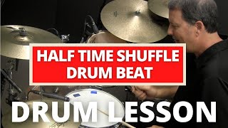 """Half-time Shuffle """"Purdie Shuffle"""" - Online Drum Lessons with John X"""