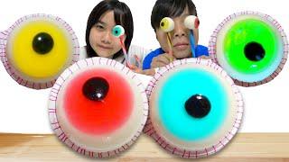 目玉グミ?目玉ゼリー?目玉 食べちゃった Mukbang Pop Eyeball こうくんねみちゃん
