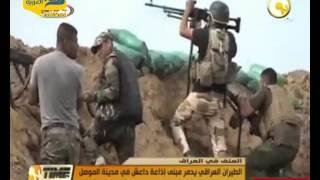 فيديو.. الطيران العراقي يدمر مبنى إذاعة داعش في مدينة الموصل