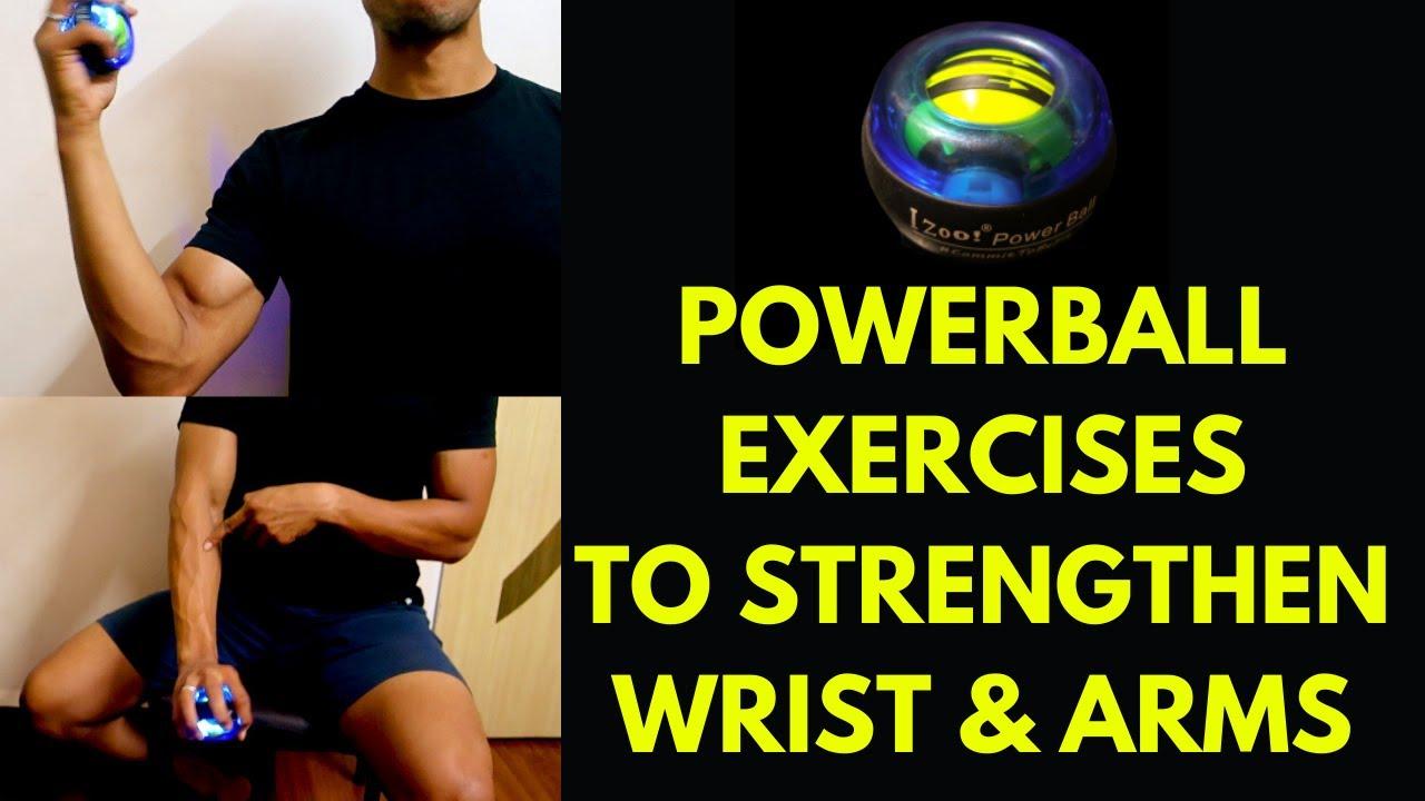 Powerball Exercises Train Your Forearms At Desk Wrist Rehab Youtube