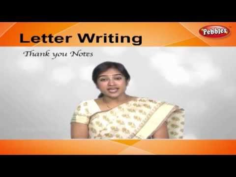 How to write Thank You Notes | Letter Writing in English | Writing Letters For Kids