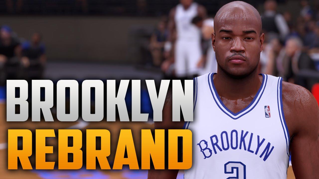 6dcfcb0e6e37 NBA 2K16 Brooklyn Nets Rebrand Brooklyn Dodgers Jackie Robinson Inspired -  YouTube