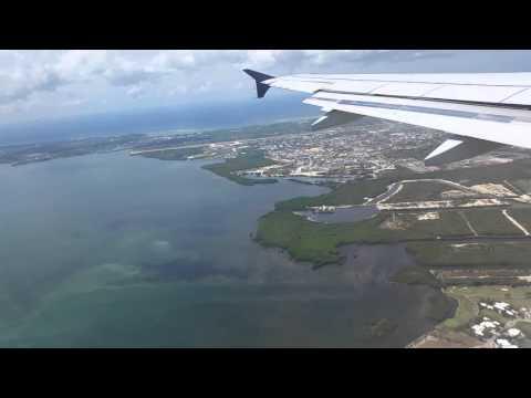 Landing on Grand Cayman