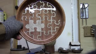 Wood turning a Puzzle, A Pretty Fail - Resin and Router Skills