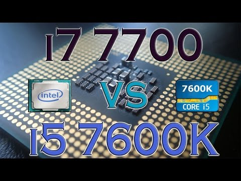 i7 7700 vs i5 7600K - BENCHMARKS / GAMING TESTS REVIEW AND COMPARISON / Kaby Lake vs Kaby Lake