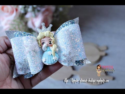 Tutorial: How to make a glitter fabric/vinyl hair bow out of a template